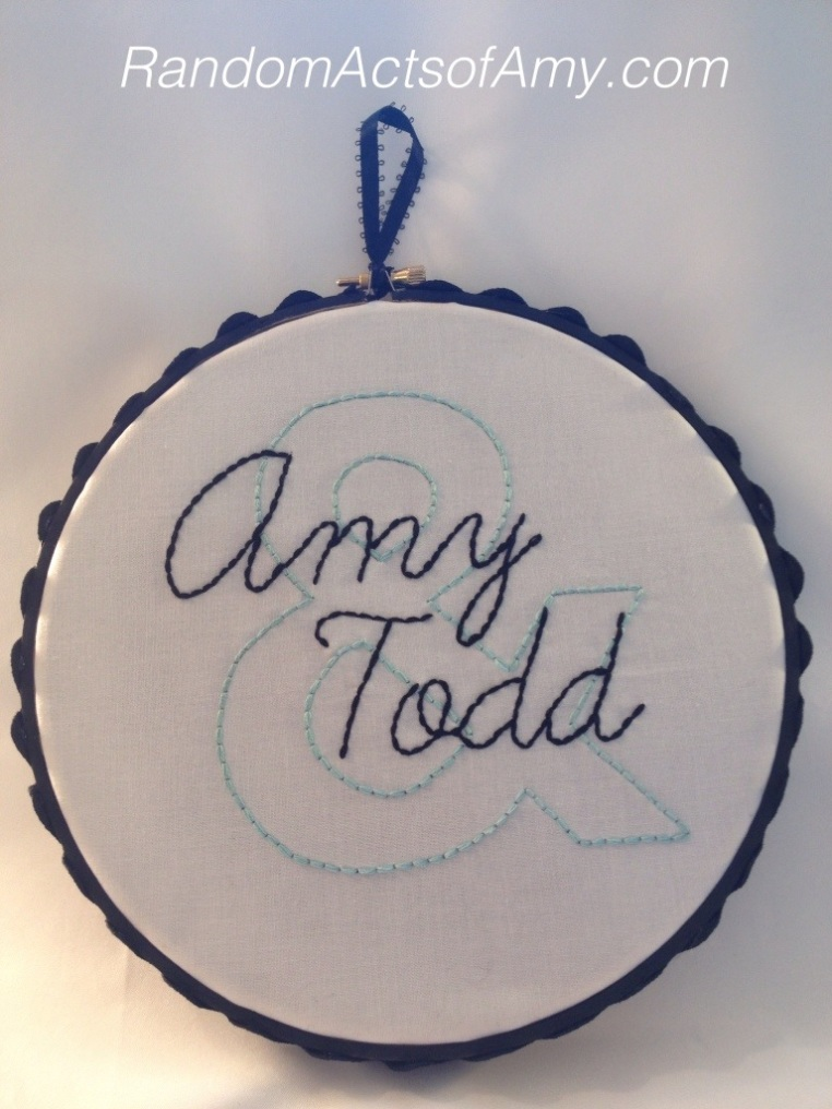 Amy & Todd embroidery